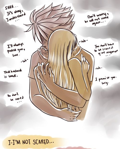 Natsu will always protect Lucy no matter what