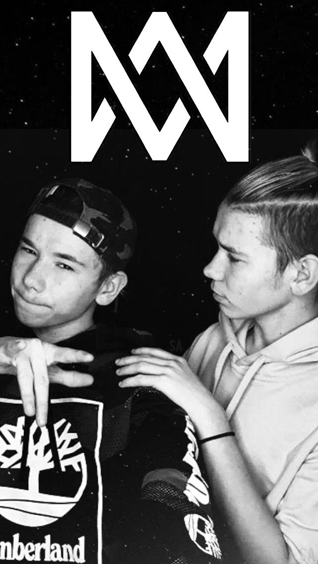 Black and white Marcus and Martinus wallpaper ✨✨