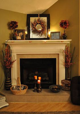 i like the corner fire placefall fireplace decorating ideas - Corner Fireplace Design Ideas