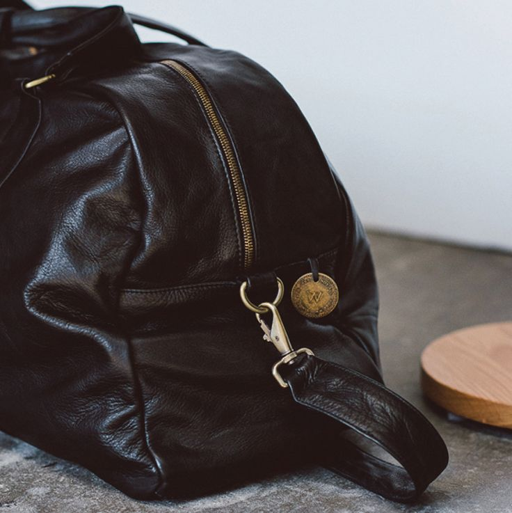 """""""The Roman"""" full grain leather duffle in black by Wanderers Travel Co. wandererstravelco.com Photo by @scottsurplicephotography"""