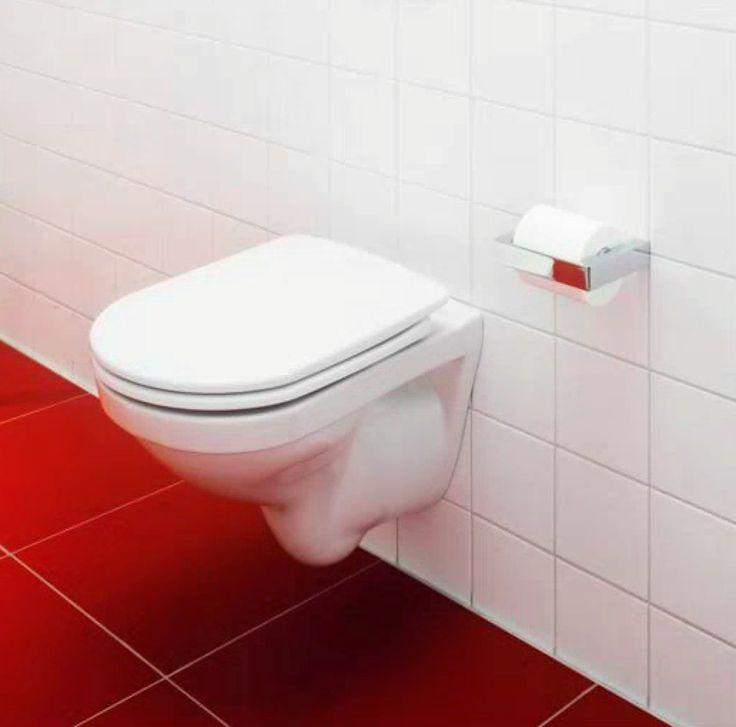 6023001 Gustavsberg  Gustavsberg Logic 5693 Vegghengt toalett Med hvitt lux-sete