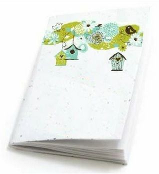 Seeded paper notebooks