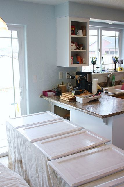 Painting cabinets how to use ace cabinet enamel w self for Best brush for painting cabinets