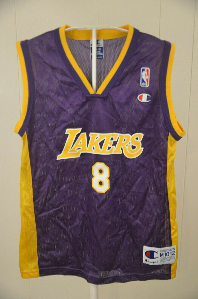 info for 9c92e 11efd Champion Los Angeles Lakers Jersey #8 Kobe Bryant NBA Kids ...