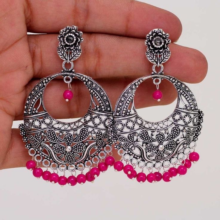 Ethnic Traditional Bollywood Jewelry Oxidized Jhumka Jhumki Earring GSE255RNI