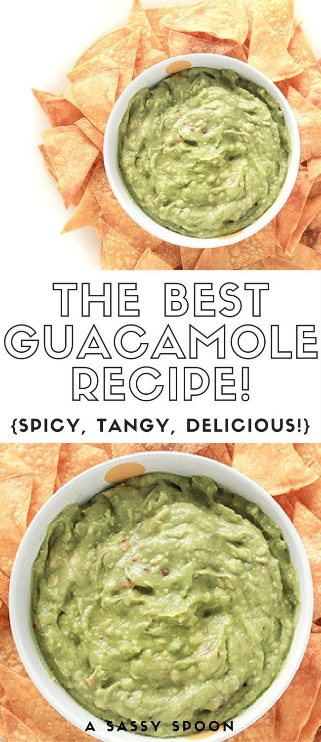 THE BEST GUACAMOLE RECIPE! Just 6 key ingredients make this quick and easy spicy, tangy guacamole! You'll never buy store-bought guacamole again! via /asassyspoon/
