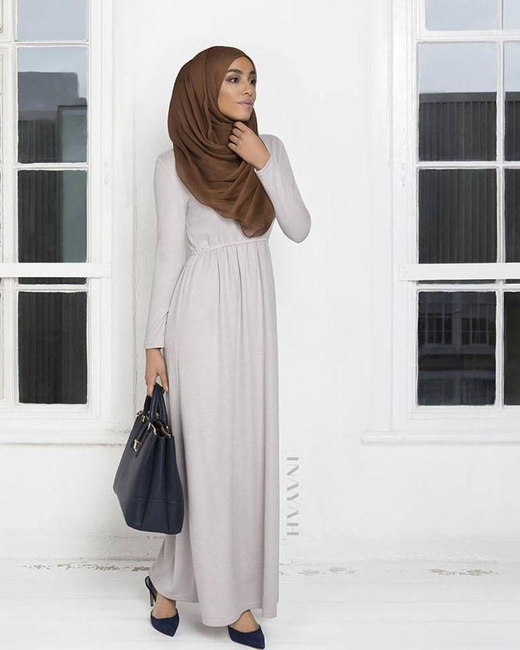 INAYAH | Oyster Knitted #Abaya + Cinnamon Silk #Hijab