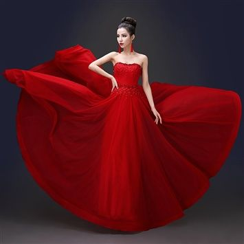 Haotaitai™  Red Gown (coupon code 3offpin)