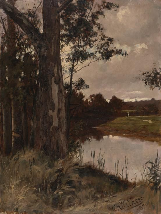 Walter WITHERS:  Evening on the Yarra, Eaglemont 1887
