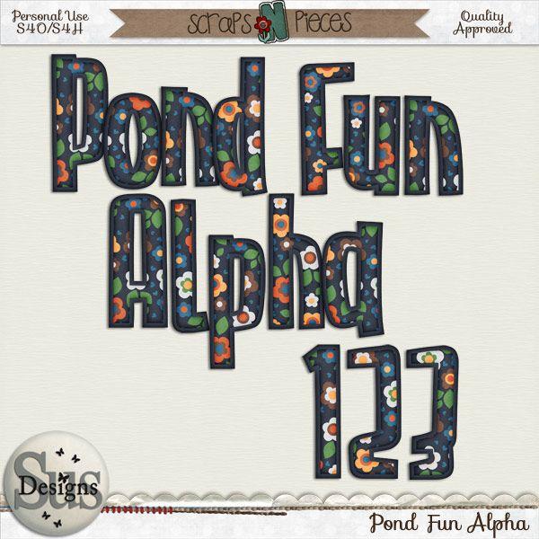 Pond Fun Alpha #SusDesigns #DigiScrap #Scrapbook #ScrapsNPieces