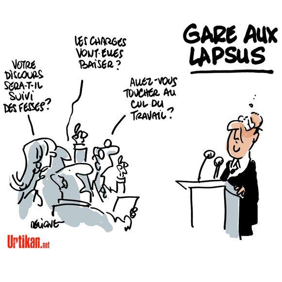 Conférence de presse de Hollande : quelle question ? - Dessin du jour - Urtikan.net