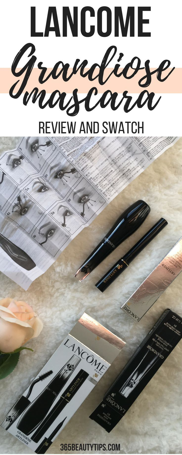 Lancome Grandiose #mascara - review and swatch. #makeup #review #lancome