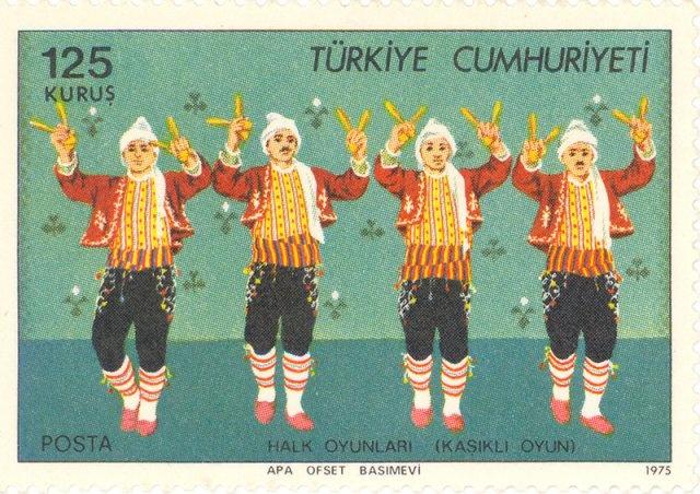 1975 Turkey  -  Kasikli Oyun folk dance
