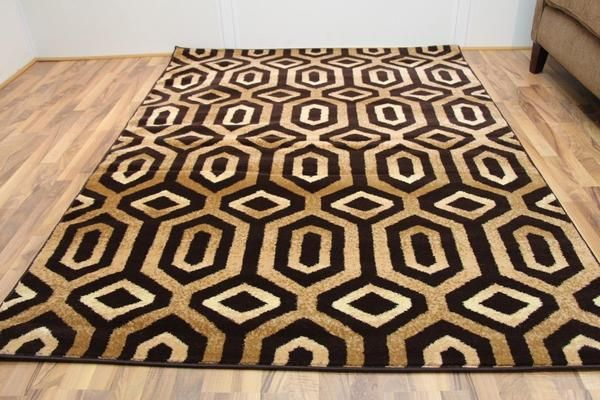 Brown Moroccan Contemporary Discount Area Rugs (5x8) (8x11) - Bargain Area Rugs