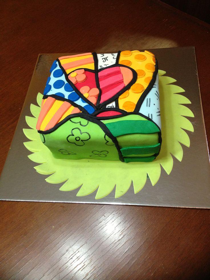 un homenaje a romero britto cake de caramelo