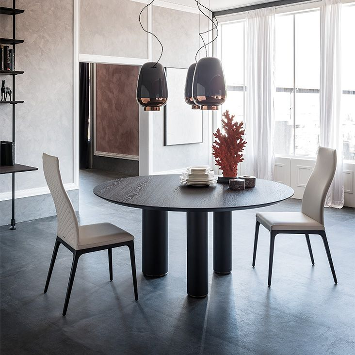 Roll Wood Round Dining Table Cattelan Italia Round Wood Dining