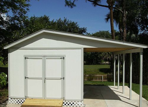 83 best tuff shed garages images on pinterest for Carport with storage shed plans