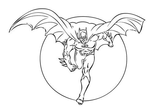 Batman Stands Proudly Coloring Pages For Kids Printable