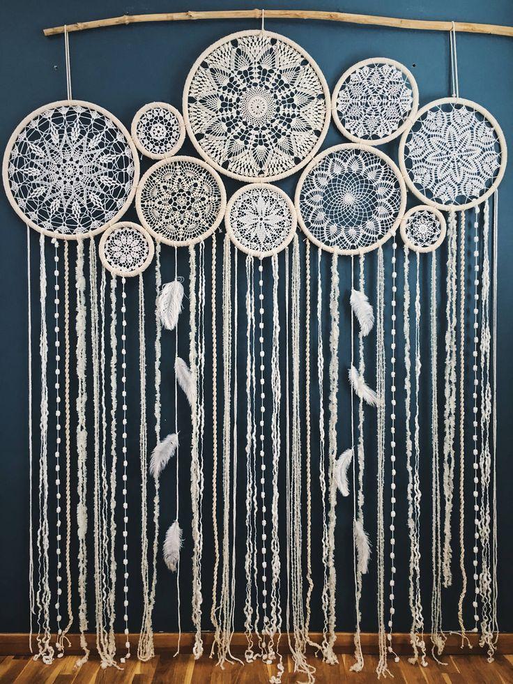 Träumen Sie Hingucker Wandbehang, Boho chic Dekor, riesigen Traumfänger, große Traumfänger, Hochzeit Traumfänger