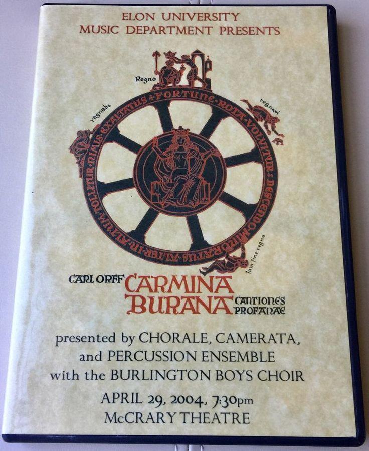 Carl Orff Carmina Burana DVD Music Dept McCrary Theatre April 29, 2004  | eBay