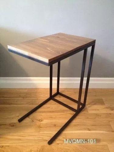 mesa para notebook/netbook - hierro y madera