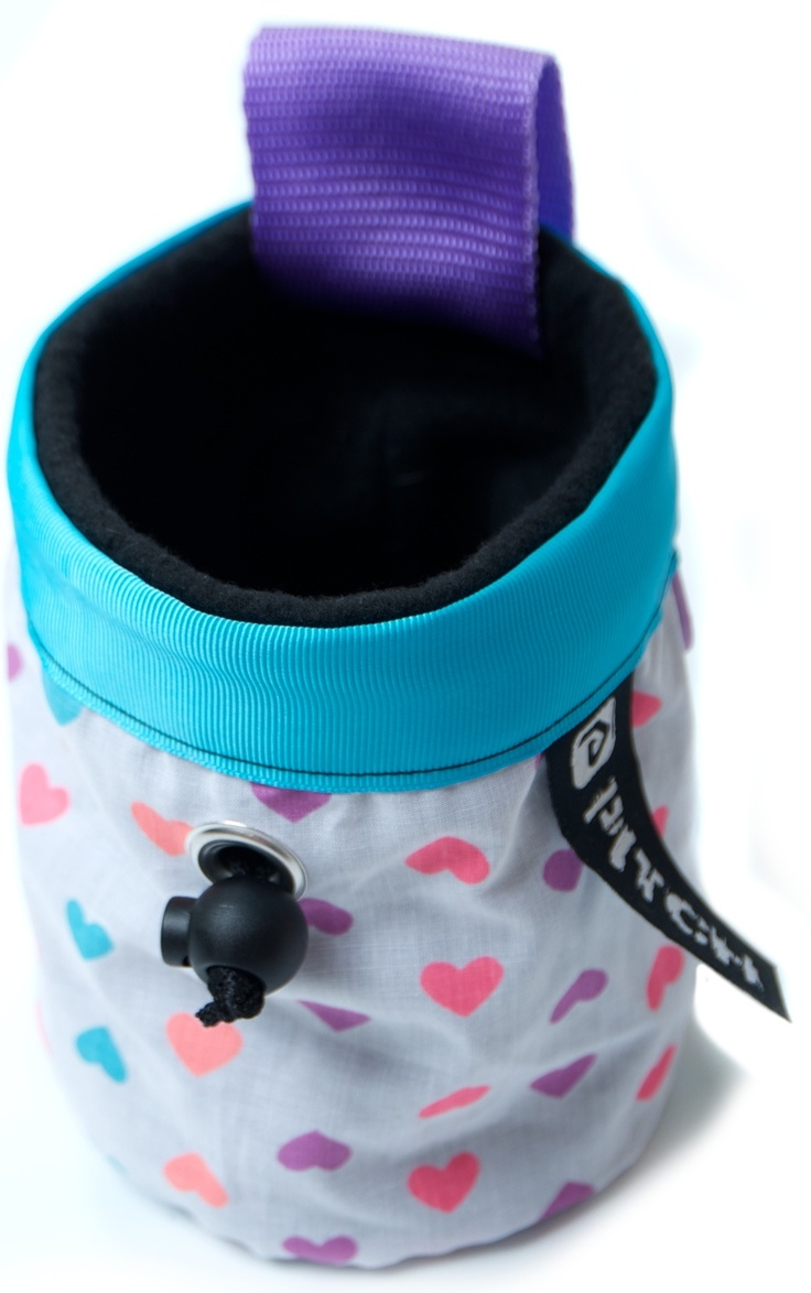 Neon hearts chalk bag (pitchclimbing.com)