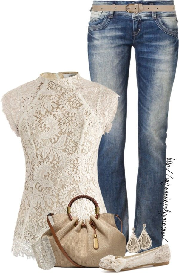 lace and denim ♥✤ | Keep the Glamour | BeStayBeautiful