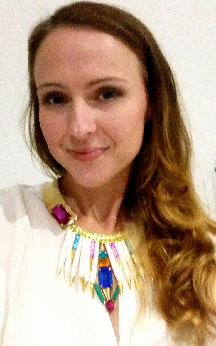 Jessica Brownhalls looks divine in her Caprica necklace