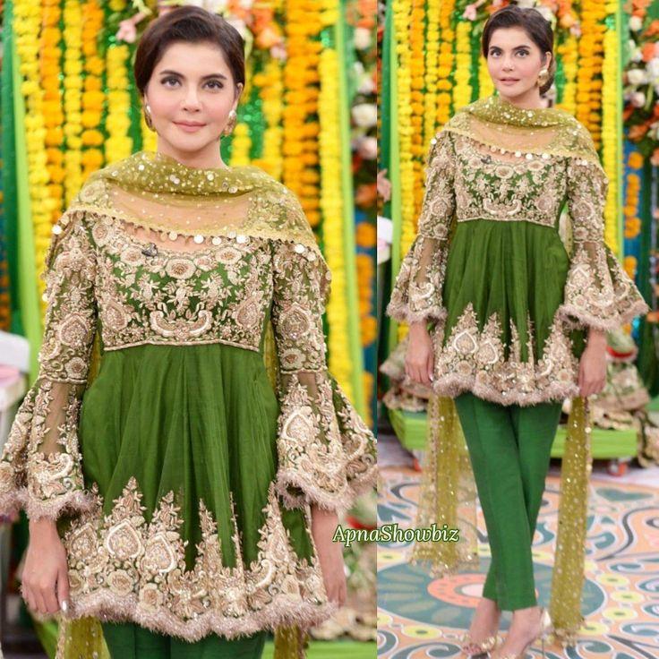 Latest Pakistani Bridal Mehndi Dresses 2018 for Brides 4 | FashionGlint