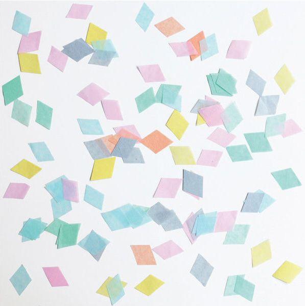 Wunderschönes Konfetti um den Tisch auf einer Geburtstagsfeier, einer Taufe, Babyshower, Hochzeit oder beim Kindergeburtstag zu dekorieren.  Das Confetti Diamond Mix pastel gibt es bei www.party-princess.de