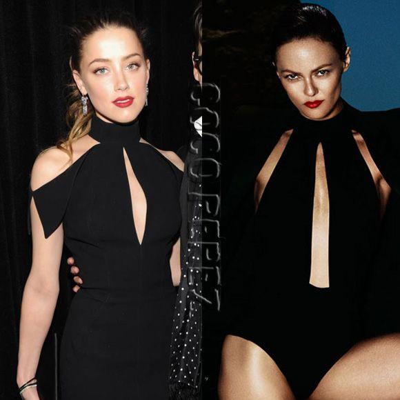 Amber Heard Vs. Vanessa Paradis: Which Of Johnny Depp's Ladies Wore It Better??? http://perezhilton.com/cocoperez/2014-05-19-amber-heard-vanessa-paradis-black-cutout-who-wore-it-better#.U3ot6VhdXdU
