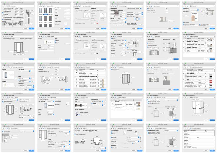 Wil je alle opties weten van de ramen en deuren in ARCHICAD? Kijk dan hier op het ARCHICAD Help Center: http://helpcenter.graphisoft.com/guides/archicad-20/archicad-20-reference-guide/user_interface_reference/tool_settings_dialog_boxes/custom_settings_panel_for_a_doorwindow/