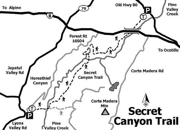 Secret Canyon: Pine Valley Creek Wilderness Trail
