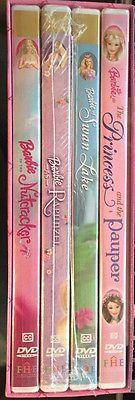 Barbie Movie Collection DVD Box Set Rapunzel nutcracker Swan Lake FREE SHIPPING