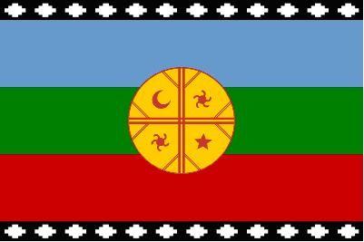 Bandera del pueblo mapuche