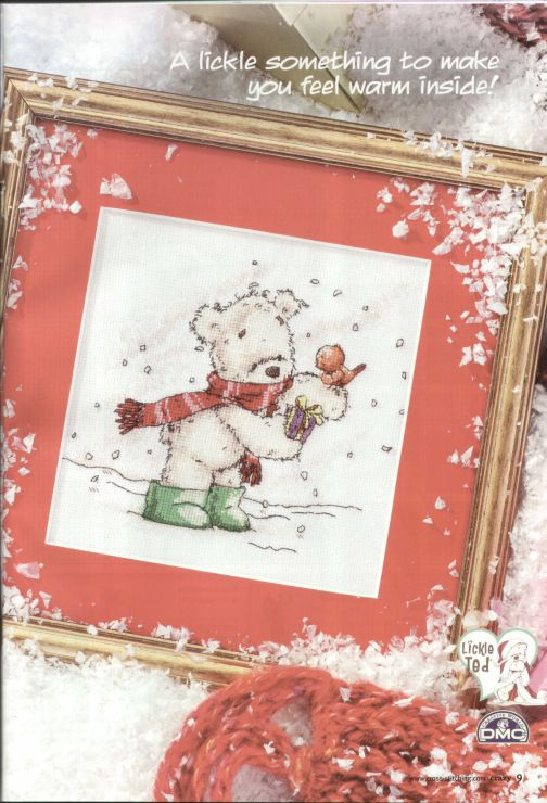 Lickle Ted Winter Wishes Cross Stitch Crazy Issue 120 January 2009 Saved