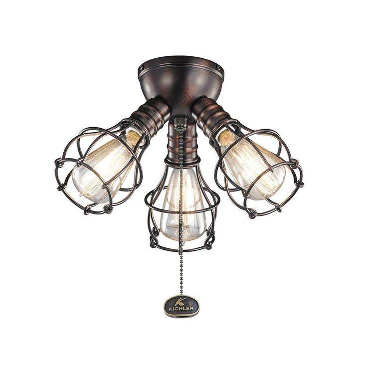 Kichler 370041 3 Light Kit for Ceiling Fan