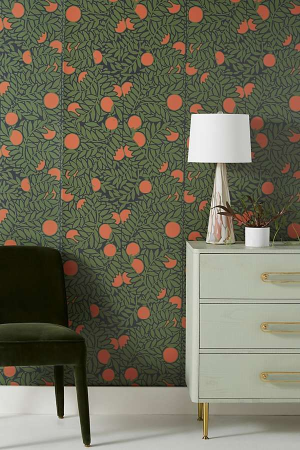 You D Never Know That These Stylish Wallpapers Are Totally Removable Home Decor Orange Decor Decor
