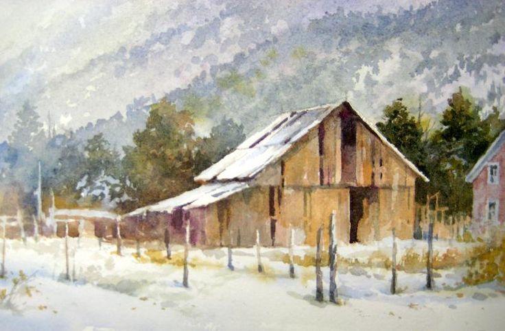 Pine Valley Snowfall | Pine valley, Watercolor paintings ...