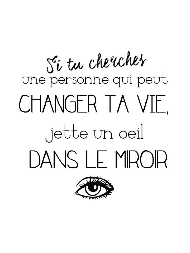 Les 66 meilleures images propos de citations positives for Le miroir jette