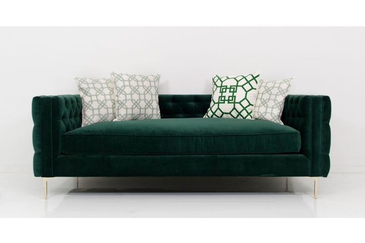 Inside Out New Deep Sofa in Green Velvet