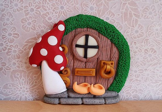 Clay Fairy Door Fairy Decoration  Small by DownTheFairyPathUK