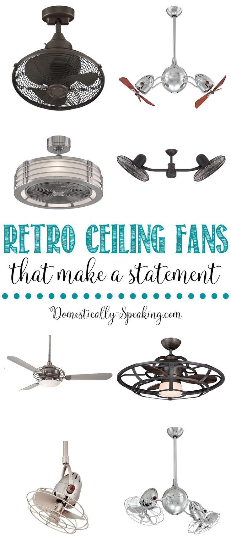 Really cool retro ceiling fans | make a statement with these ceiling fans