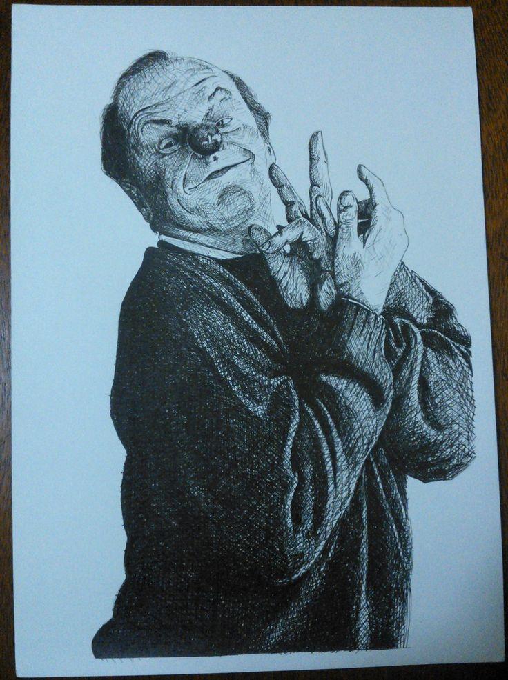 Jack: Desenho feito com nanquim e hachuras cruzadas..!