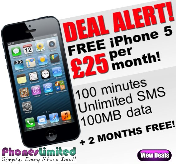 The cheapest iPhone 5 deals just got cheaper! Pick up a free iPhone 5 on