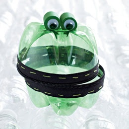 Frog container from 2-liter bottles.
