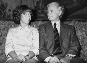 Evelyn Hamann mit ihrem Langzeitpartner Vicco von Bülow alias Loriot