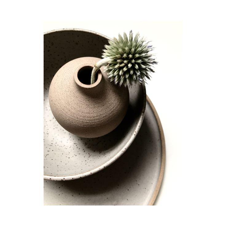 Fiona Mackay Ceramics  Bud vase + bowl + plate