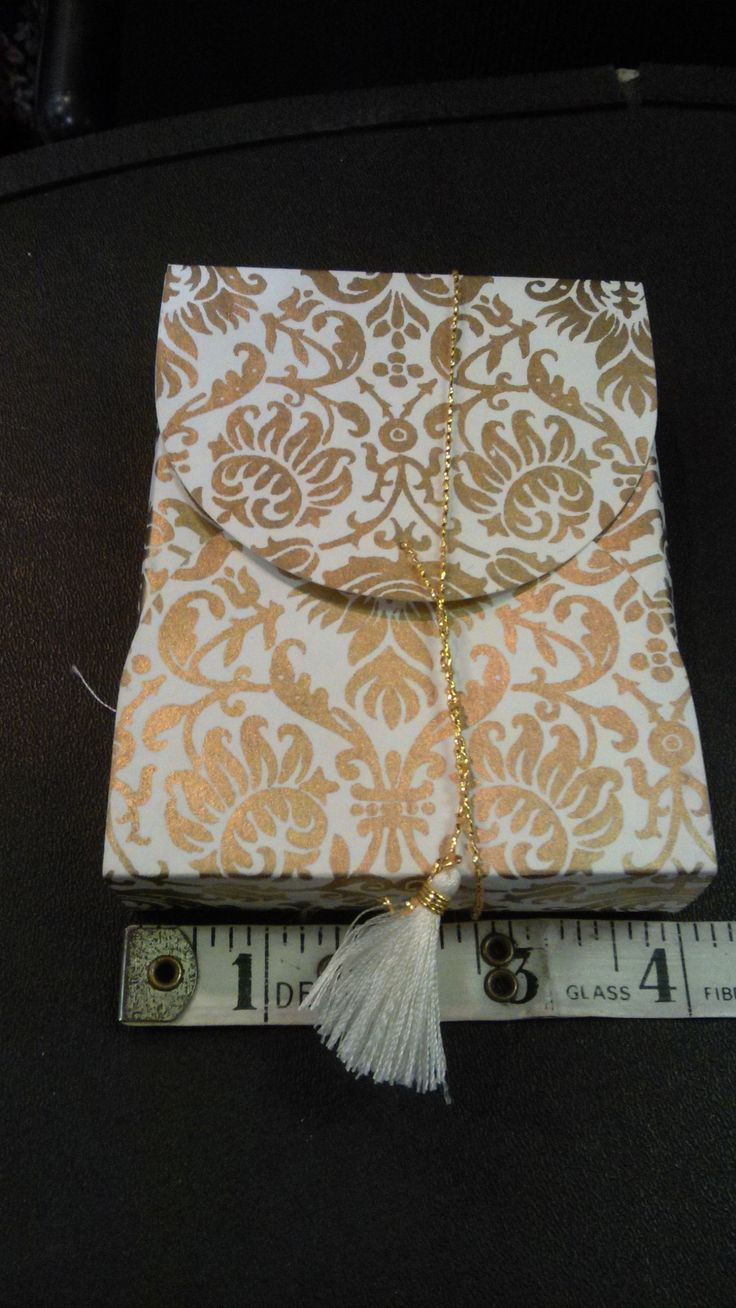 Gold  Collapsible Box with Tape
