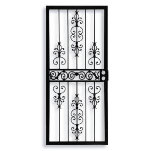 Grisham, 409 Series Spanish Lace 36 in. x 80 in. Steel Black Prehung Security Door, 40921 at The Home Depot - Mobile